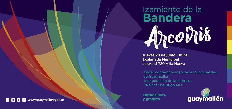 Placa inicio de actividades por Orgullo LGBT 28 de junio