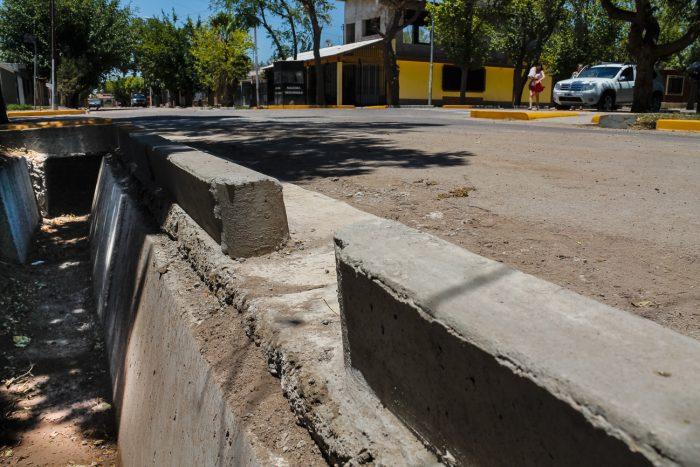 Obra de drenajes - calle Martínez de Rosas (2)