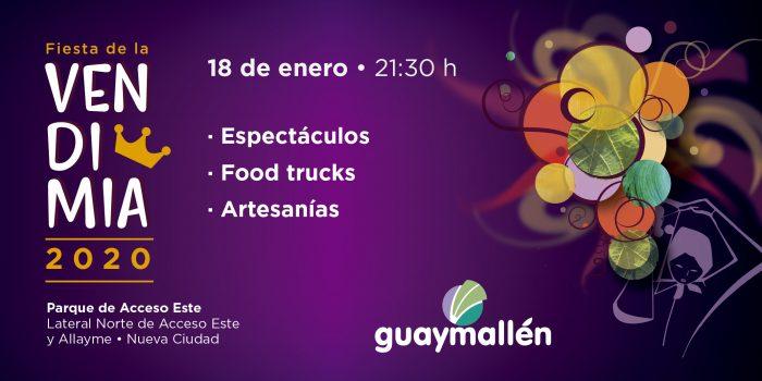Placa Vendimia Guaymallén 2020