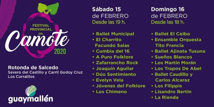 Festival Provincial del Camote (placa)
