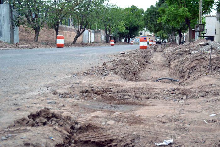 Obra de drenaje - calle Magallanes (2)